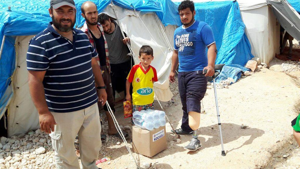 Yardımlar savaşta gazi olmuş bayırbucak ailelerine ulaştı
