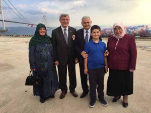 Başkan Karaosmanoğlu, Başbakan Binali Yıldırım ile birlikte