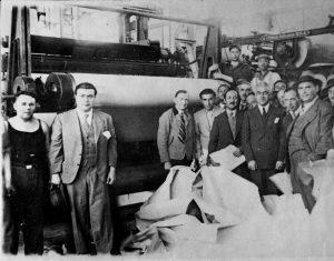 1936yilindafabrikadauretilenilkkagit